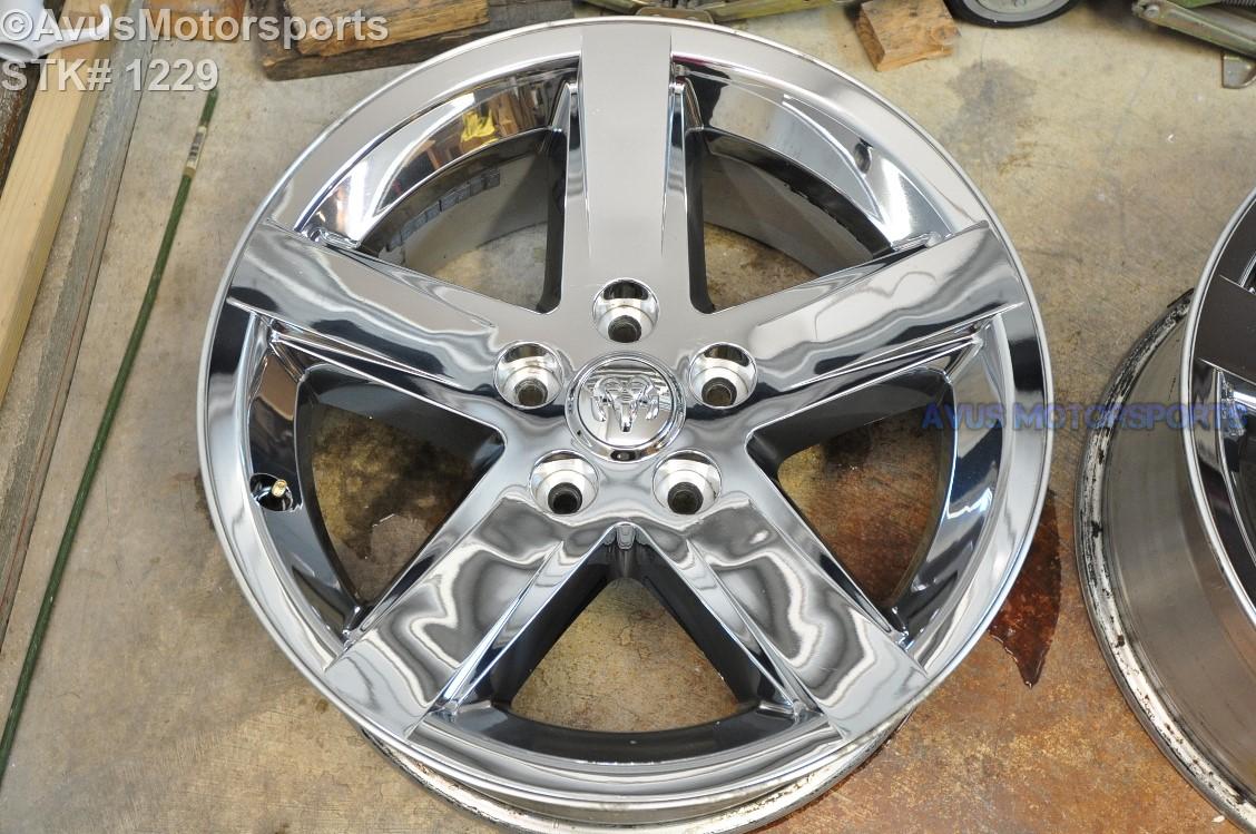 "20"" Dodge Ram OEM 1500 Sport Factory Chrome Clad Wheels ..."