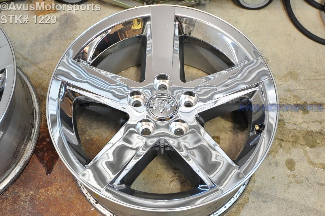 "20"" Dodge Ram OEM 1500 Sport Factory Chrome Clad Wheel ..."
