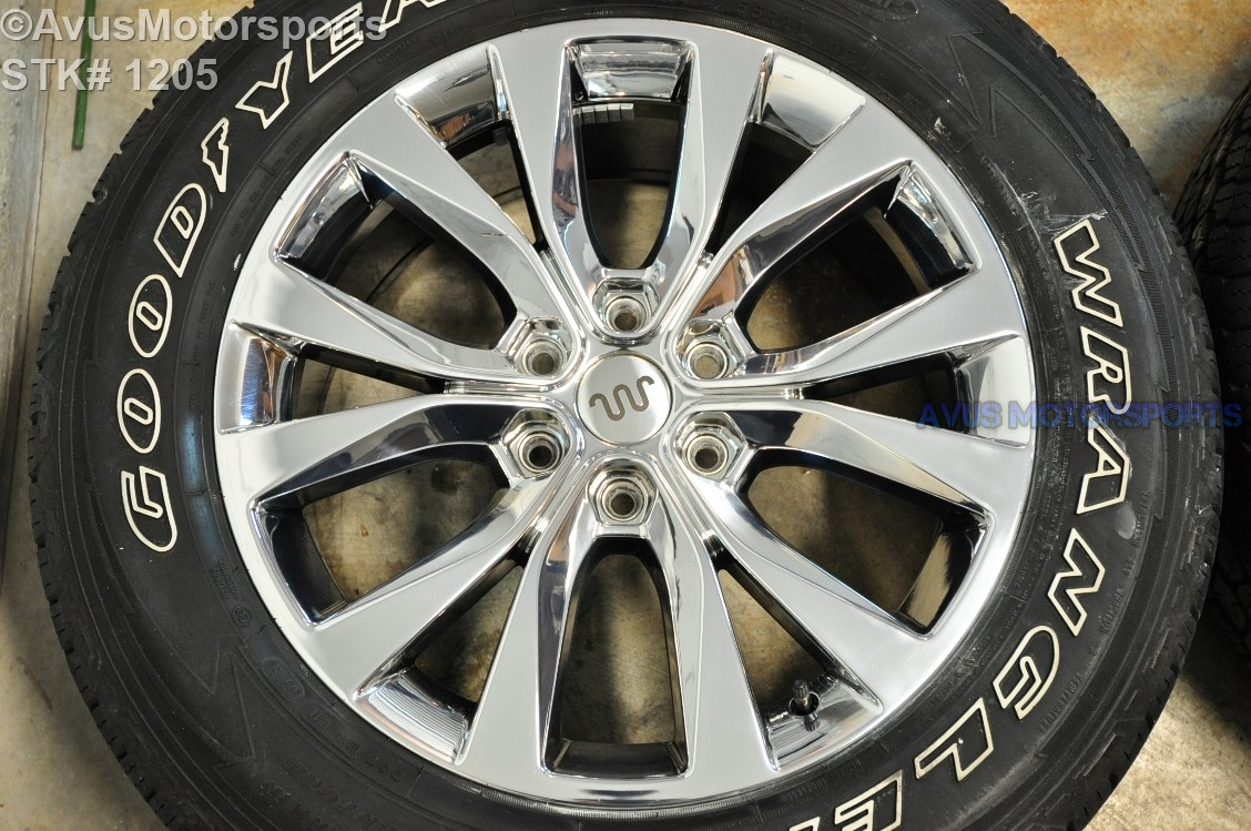20 ford f150 oem factory chrome pvd wheels tires expedition 2016 2015 ebay. Black Bedroom Furniture Sets. Home Design Ideas