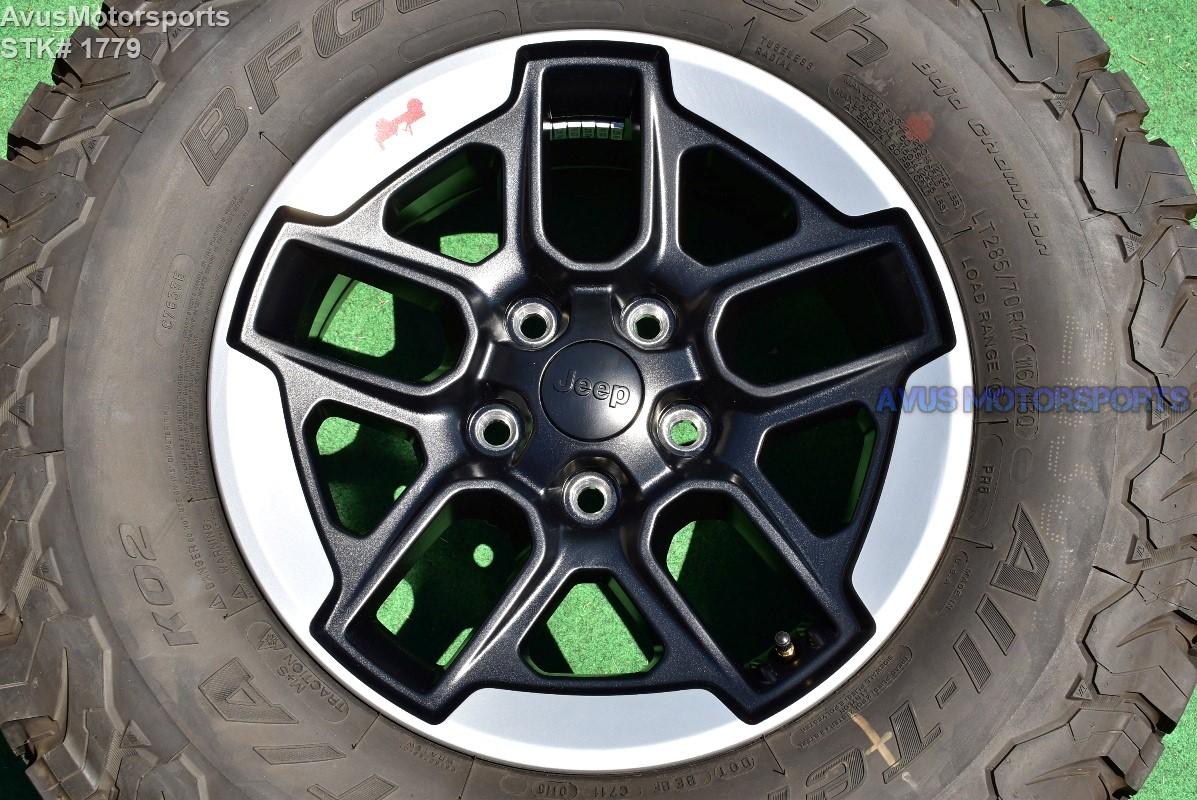 2018 Jeep Wrangler Rubicon Oem Factory 17 U0026quot  Genuine Wheels