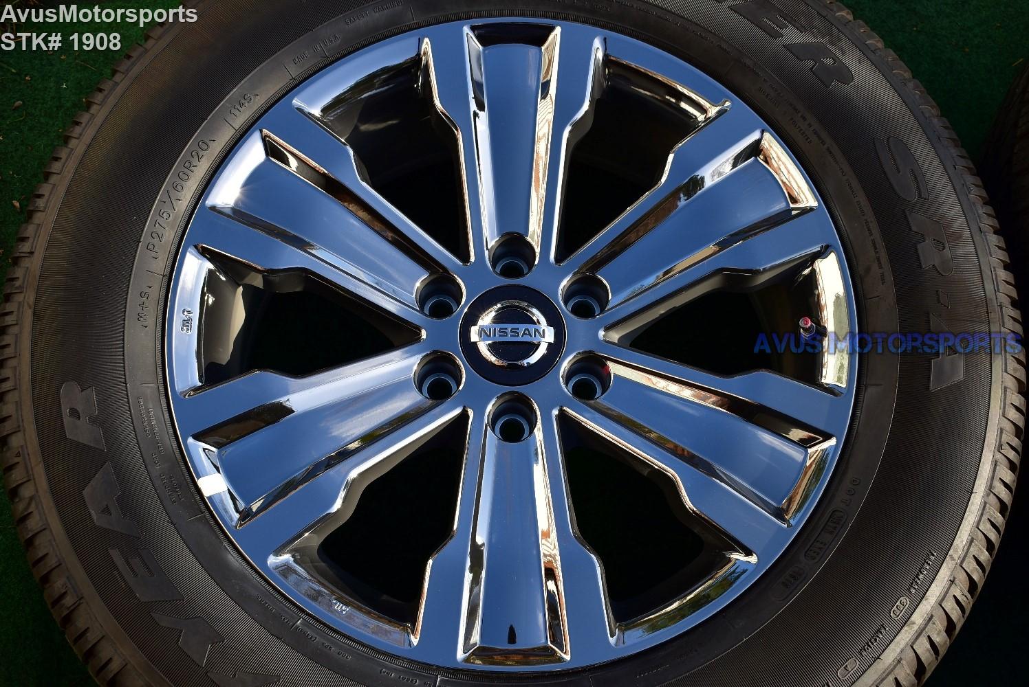 "20"" Nissan Titan OEM Factory Black Chrome PVD Wheels Tires ..."