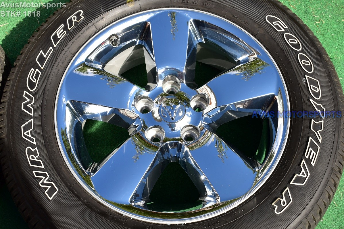 ram tire dodge 1500 rims tires inch wheels chrome horn oem factory hemi clad wheel thread 2001