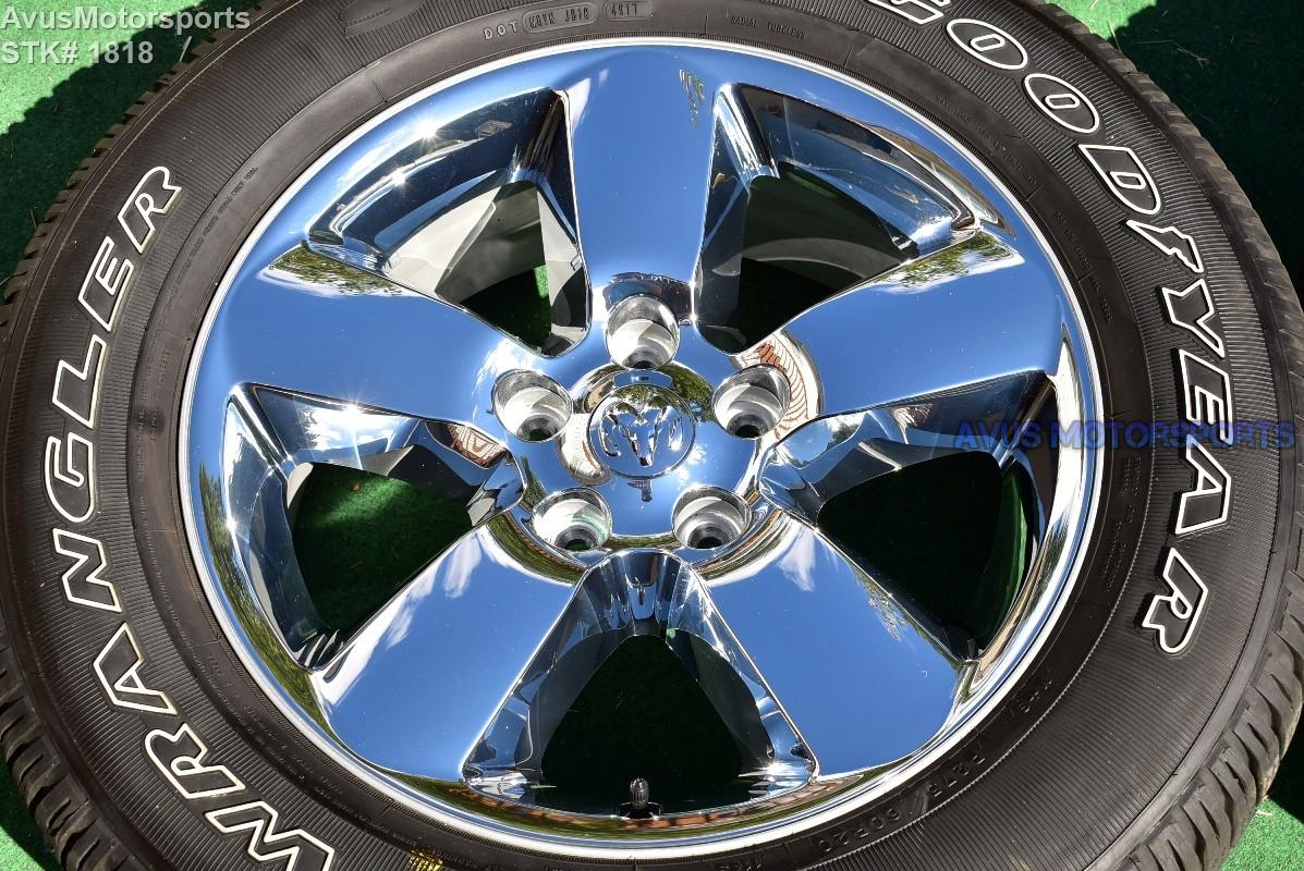 ram 1500 dodge wheels horn chrome hemi tire clad oem factory wheel