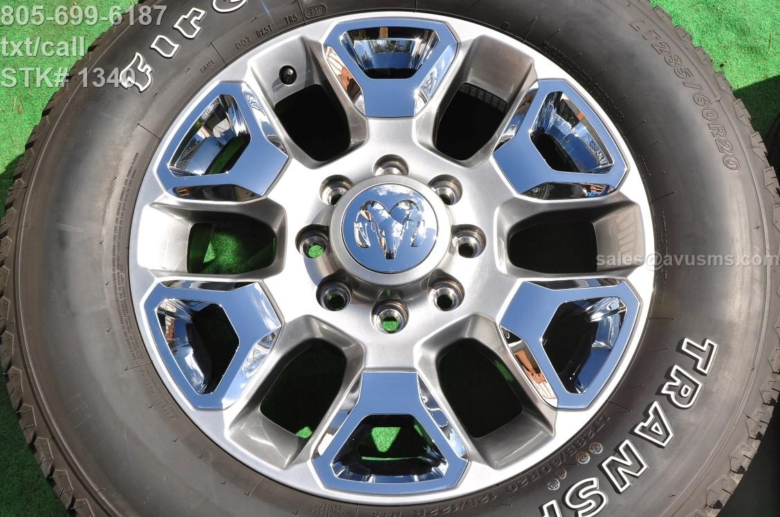 "Dodge Ram Laramie Limited 2017 >> 20"" Dodge Ram Limited OEM Factory Wheels & Tires Laramie ..."