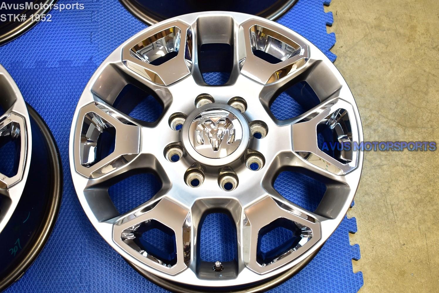 "20"" Dodge Ram 2500 3500 OEM Factory Limited Wheels 2016 2017 2018"