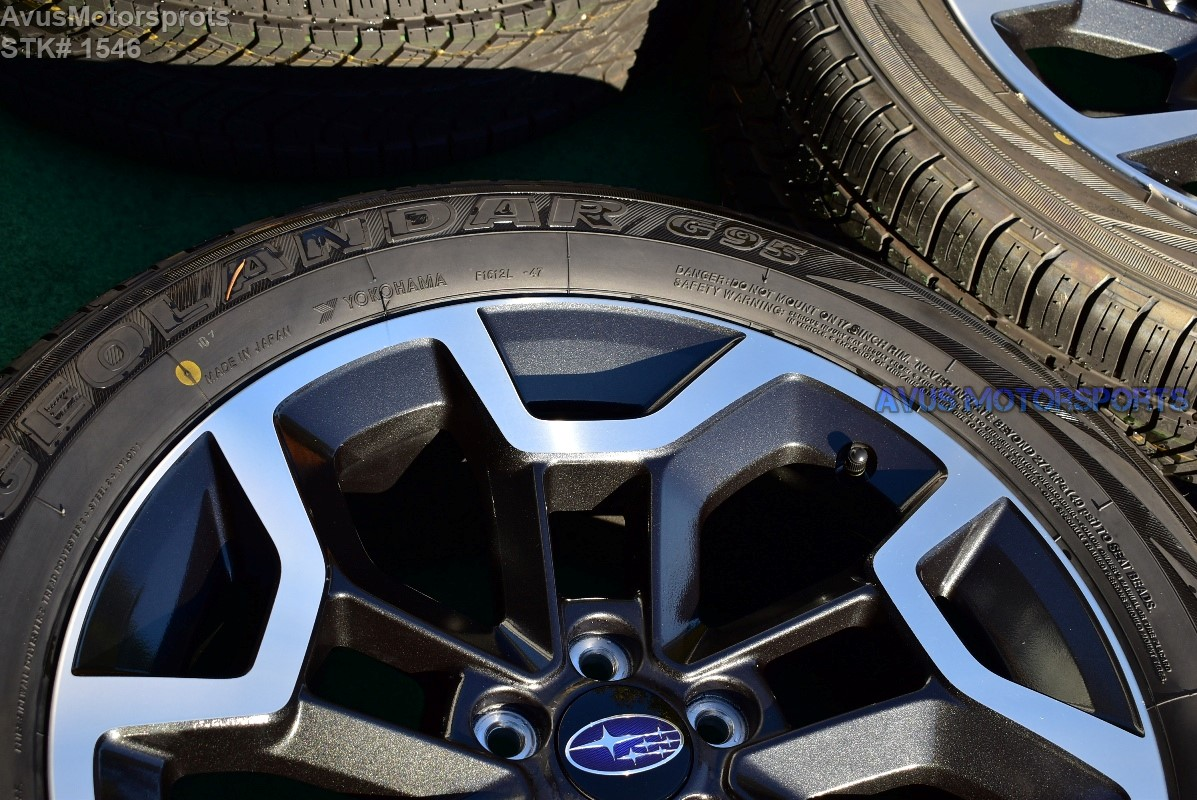 2017 Subaru Xv Crosstrek Oem 17 Factory Wheels Yokohama P225 55r17 Tires 28111fj170