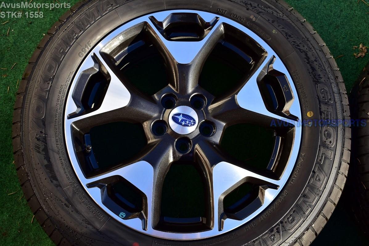 2018 subaru xv crosstrek oem 17 u0026quot  factory wheels yokohama p225  60r17 tires