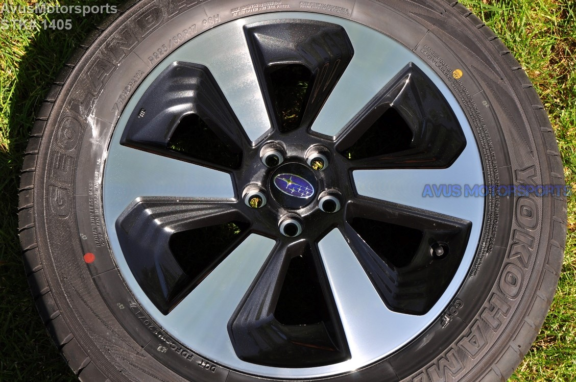 This Item Is For A Set Of 4 2017 Subaru Forester Oem 17 Genuine Factory Wheels And Yokohama Geolandar P225 60r17 Tires