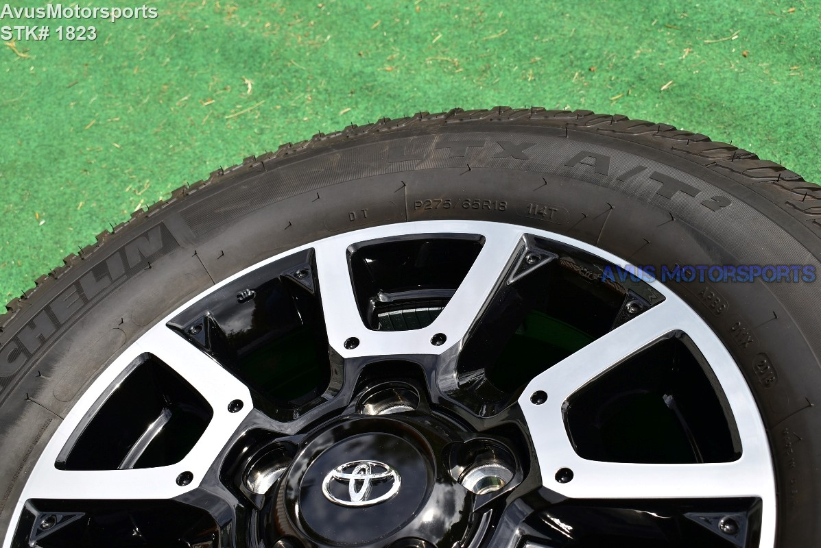 """P275 65r18 Tires >> 18"""" Toyota Tundra Off Road OEM Factory Wheels Tires TRD ..."""
