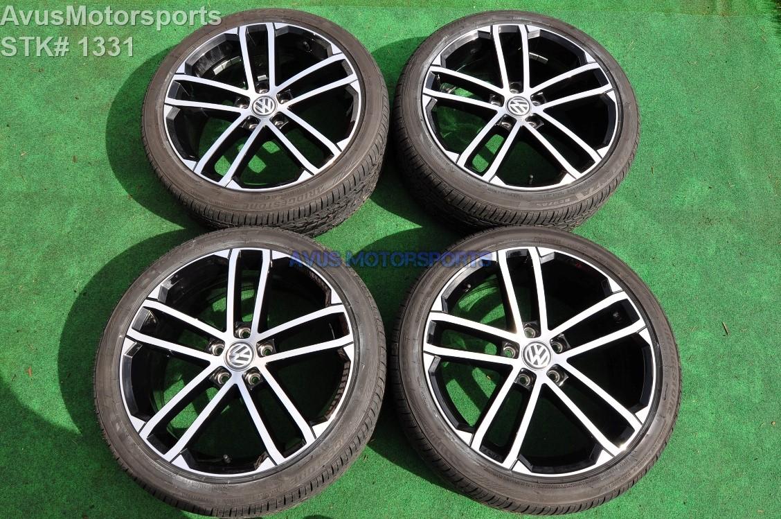 volkswagen golf gti oem factory nogaro wheels  pr tires ebay