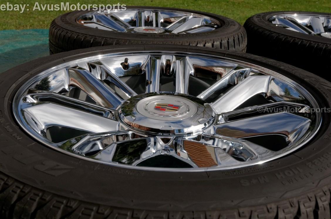 """2013 Cadillac Escalade 22"""" Chrome Wheels Tires Silverado 1500 Tahoe Suburban"""