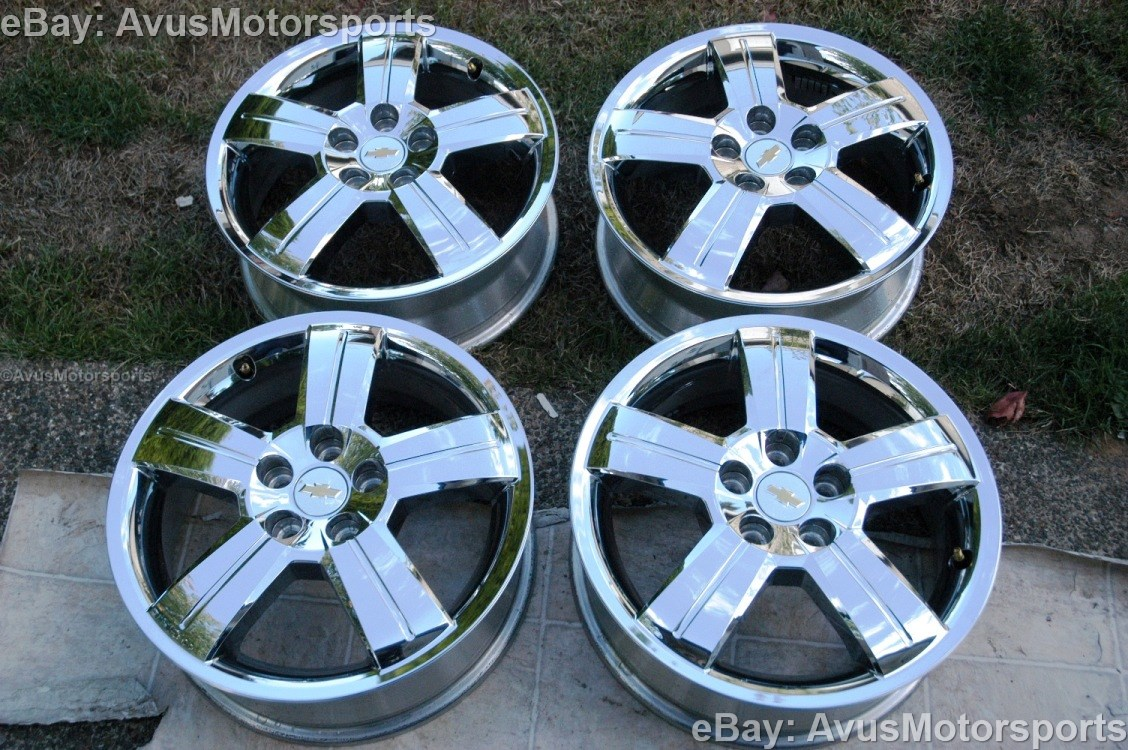 "06 11 Chevy HHR 17"" Factory Chrome Clad Wheels Cobalt Malibu"