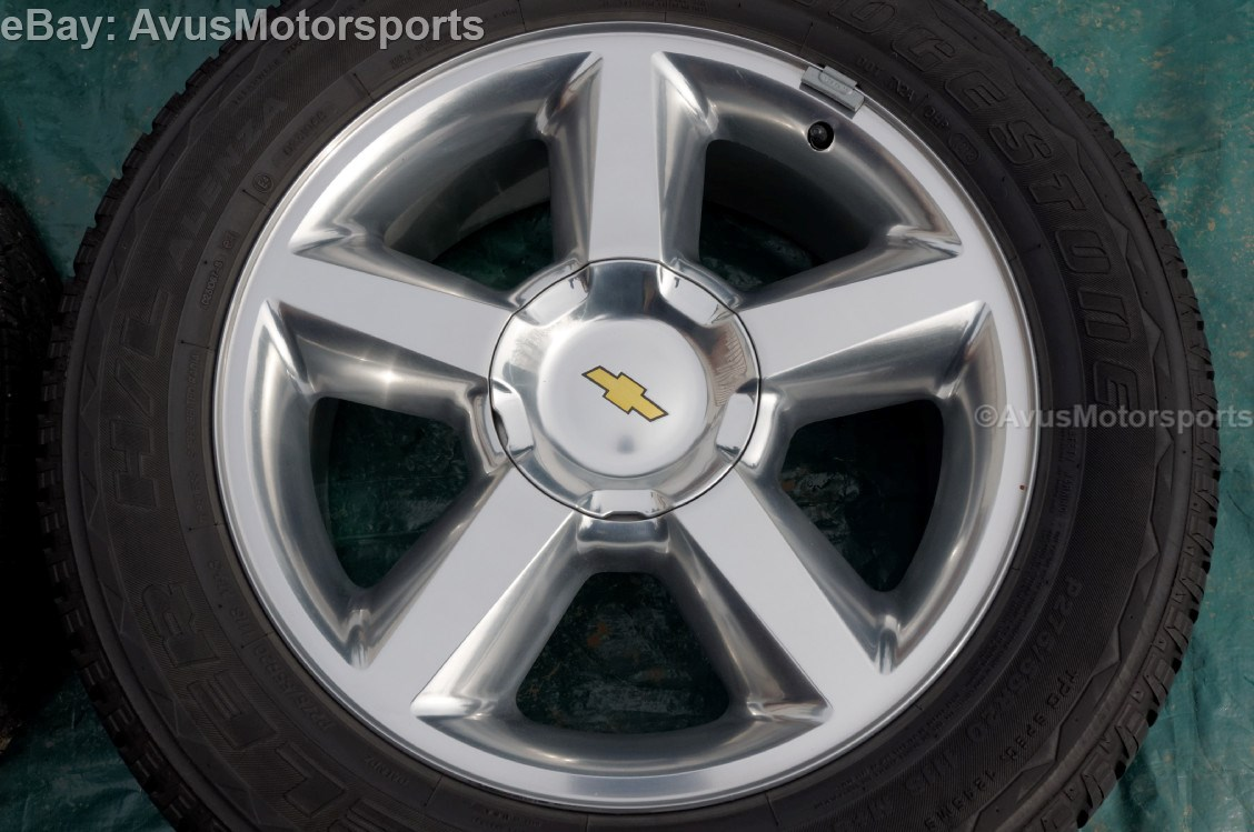 "Chevy Tahoe LTZ 20"" Wheels Tires Suburban Silverado 1500 GMC Yukon Sierra"