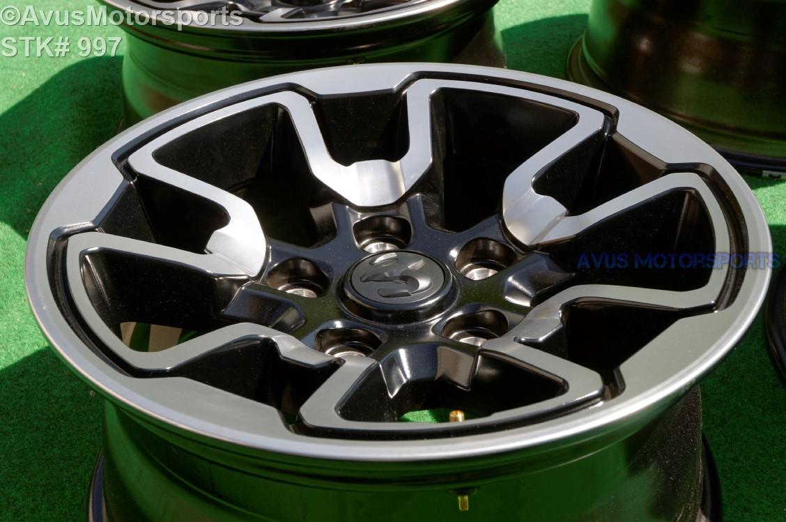 2016 Ram Rebel Oem Factory 17 Quot Black Wheels 1500 Mopar