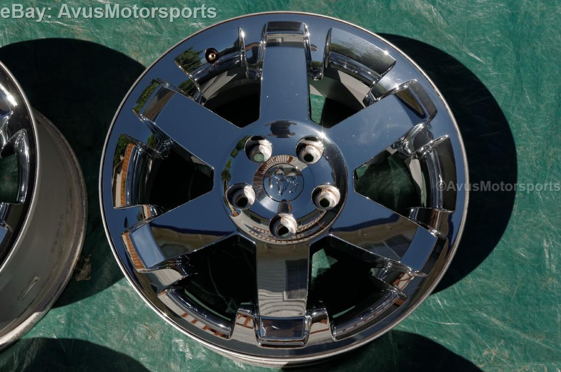 2010 dodge ram oem factory 20 chrome clad wheels 1500. Black Bedroom Furniture Sets. Home Design Ideas