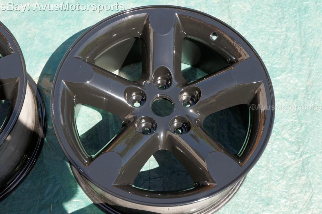 dodge ram  oem factory  wheels powder coated black dakota aspen ebay