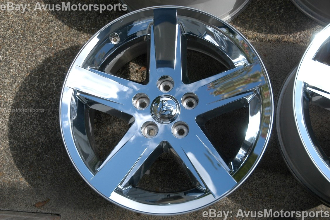 dodge ram oem factory 20 chrome clad wheels hemi 1500 durango dakota aspen ebay. Black Bedroom Furniture Sets. Home Design Ideas