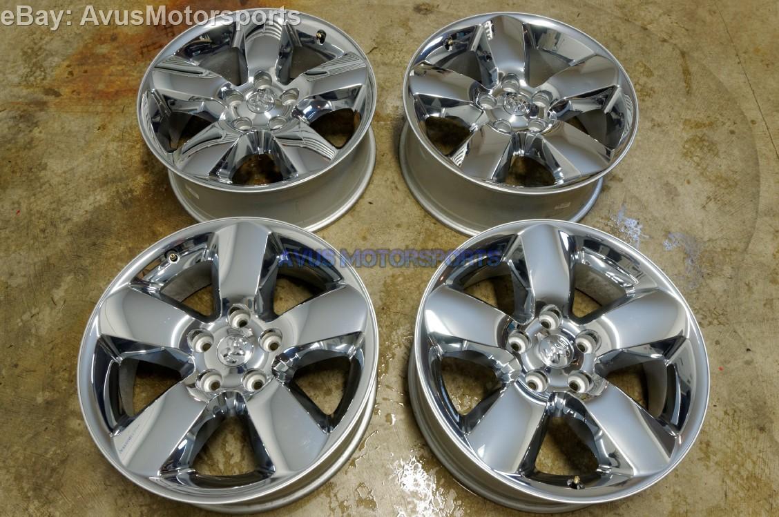 "Dodge Ram 20"" OEM 1500 Factory Chrome Clad Wheels Dakota Aspen 2014 2013 2012"