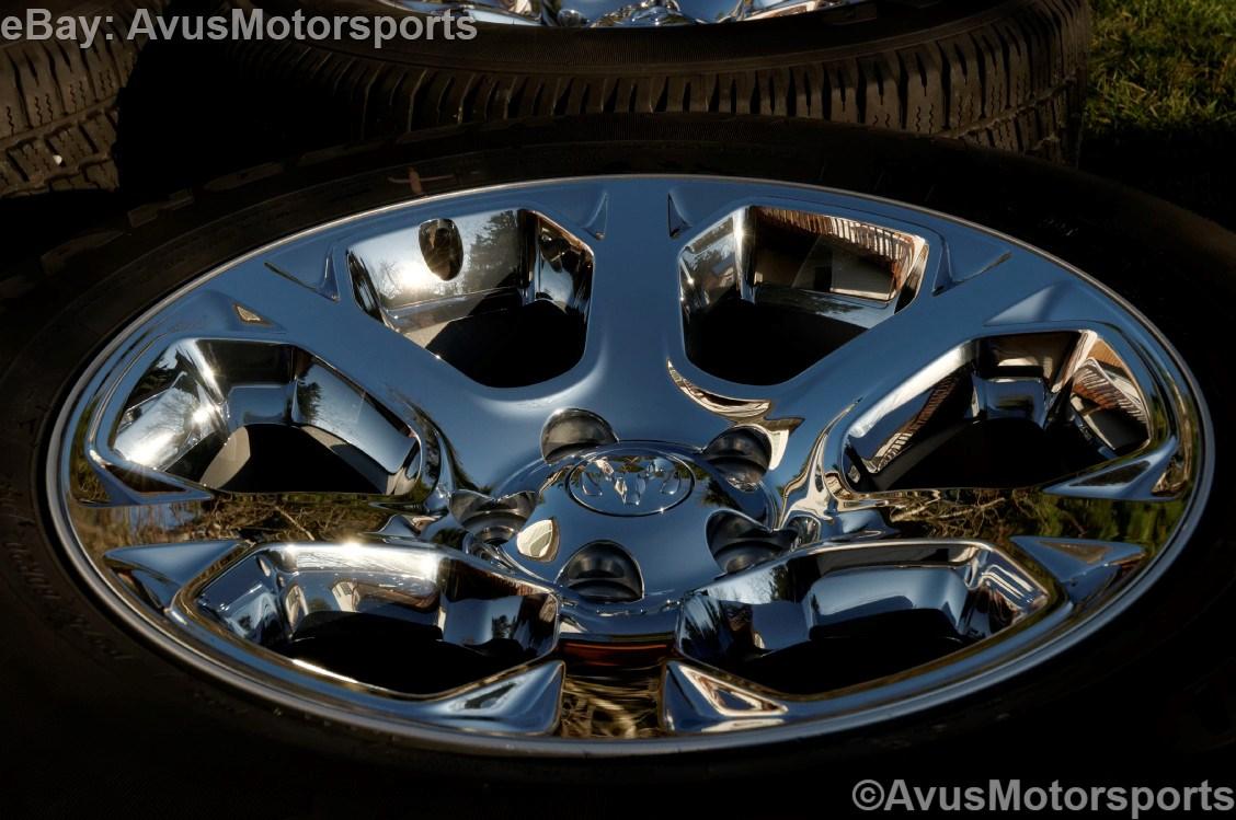 """2013 Dodge RAM Factory 20"""" Chrome Clad Wheels Tires Hemi 1500 Dakota Aspen"""