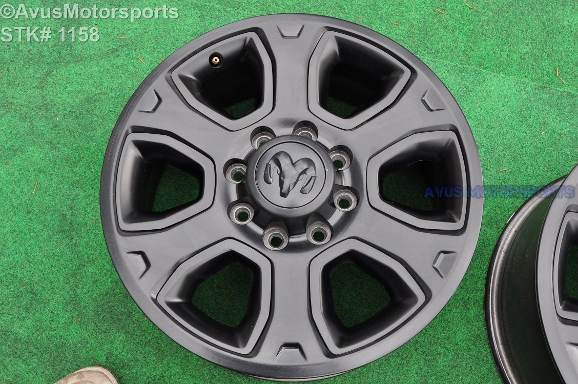 dodge ram oem factory black edition wheels long horn laramie    ebay