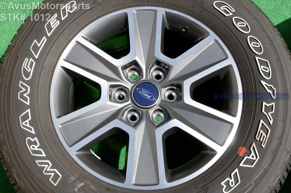 18 ford f150 oem wheels factory lariat fx4 sport goodyear 275 65r18 tires 2016 ebay. Black Bedroom Furniture Sets. Home Design Ideas