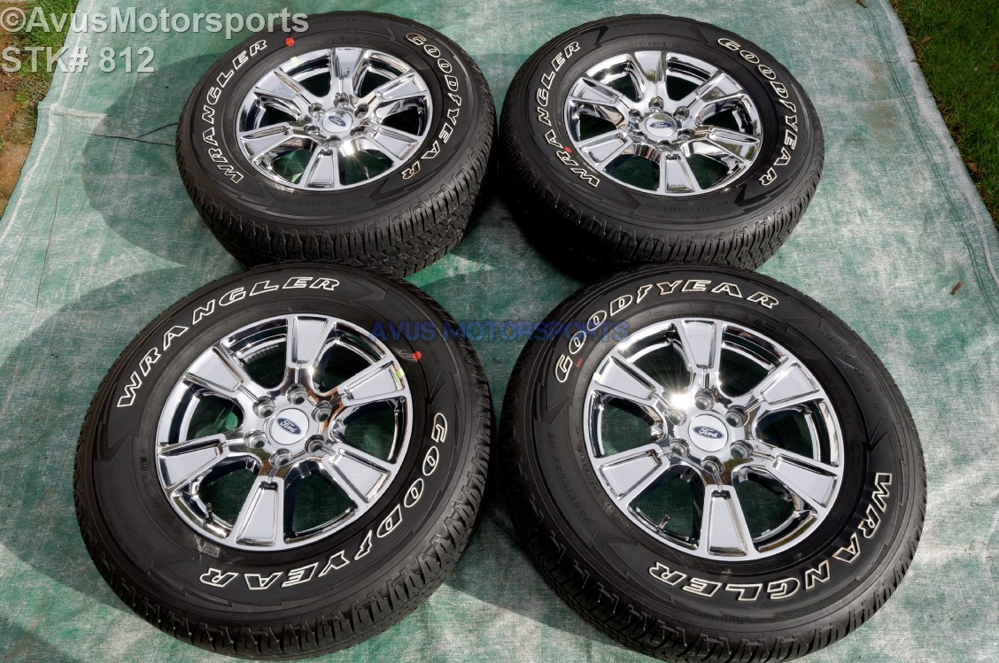 """F150 Bolt Pattern >> 18"""" Ford F150 OEM Wheels Factory Chrome pvd Lariat Goodyear 275/65r18 Tires 2015"""