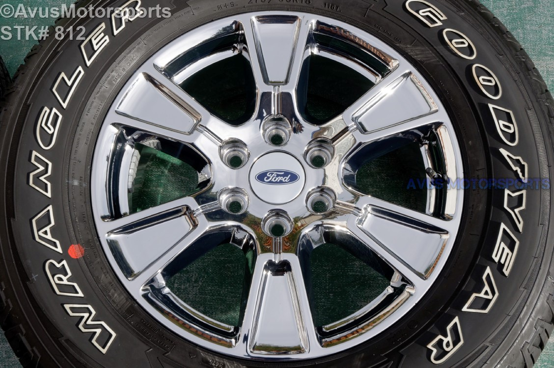 """2004 Ford F150 Bolt Pattern >> 18"""" Ford F150 OEM Wheels Factory Chrome pvd Lariat Goodyear 275/65r18 Tires 2015"""