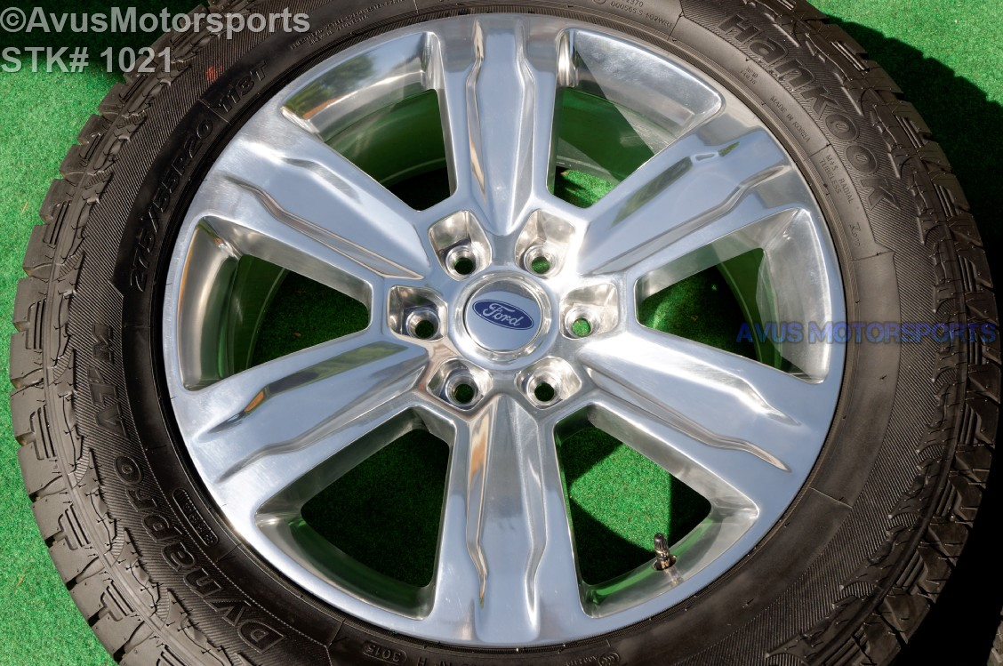 20 ford f150 oem factory polished platinum wheels tires expedition 2016 ebay. Black Bedroom Furniture Sets. Home Design Ideas