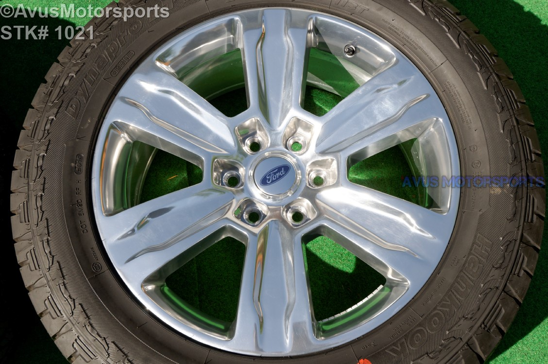 """Ford F150 Bolt Pattern >> 20"""" Ford F150 OEM Factory Polished Platinum Wheels & Tires Expedition 2016 
