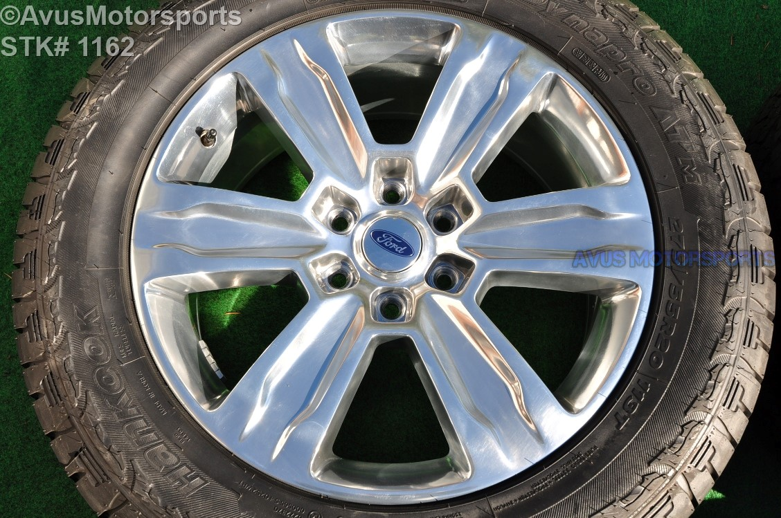 """Ford F150 Oem Wheels >> 20"""" Ford F150 OEM Factory Polished Platinum Wheels & Tires Expedition 2016 TPMS 