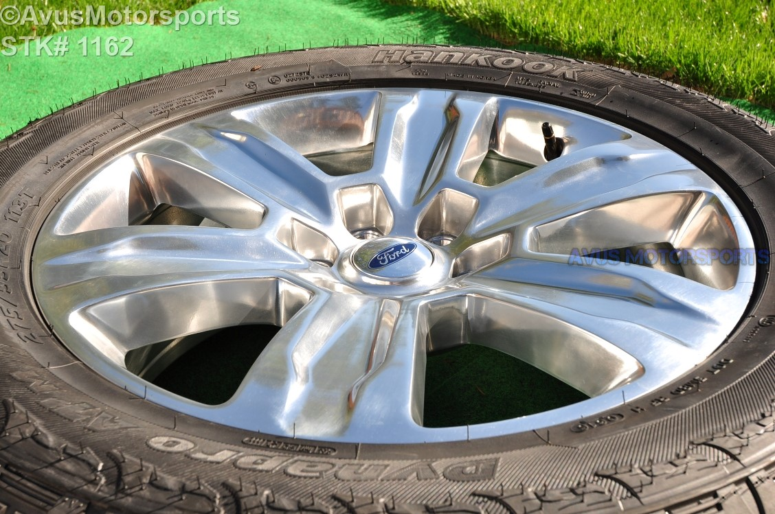 "Hankook Dynapro Atm 275 55r20 >> 20"" Ford F150 OEM Factory Polished Platinum Wheels & Tires ..."