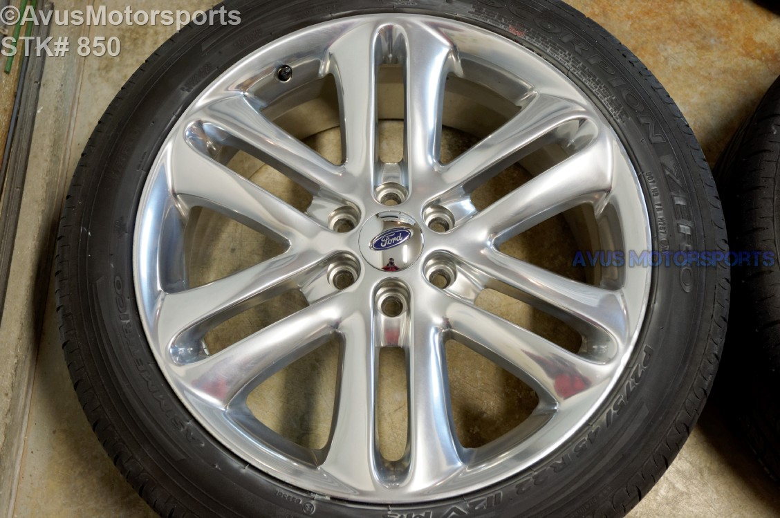 "2004 Ford F150 Bolt Pattern >> 2014 Ford F150 Limited 22"" OEM Factory Wheels & Tires ..."