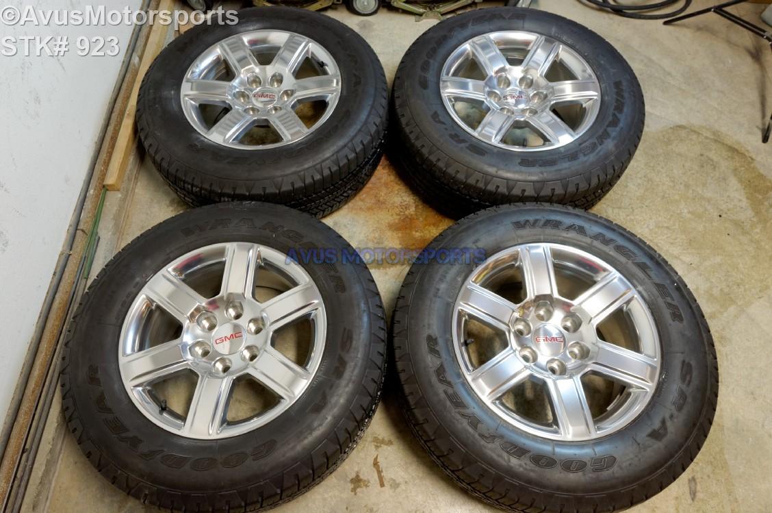 "Aftermarket Rims For Chevy Silverado 1500 >> 2015 GMC YUKON SIERRA 18"" OEM WHEELS TIRES SUBURBAN Tahoe ..."
