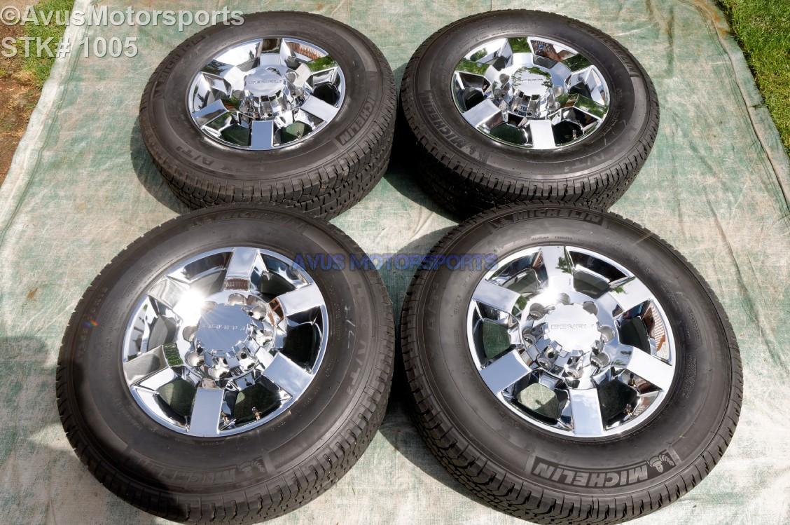 "2016 GMC Sierra 2500 3500 18"" OEM WHEELS MICHELIN TIRES Chevy Silverado chrome | eBay"