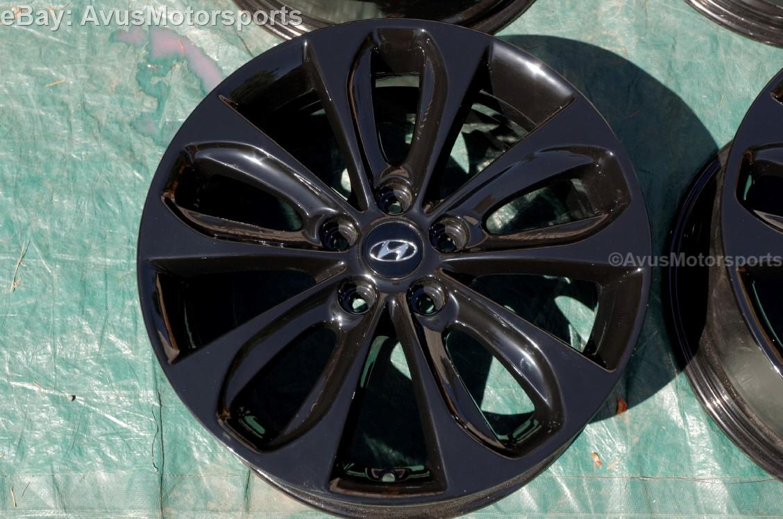 Hyundai Sonata 18 Quot Factory Oem Wheels Black 2014 2013 2012