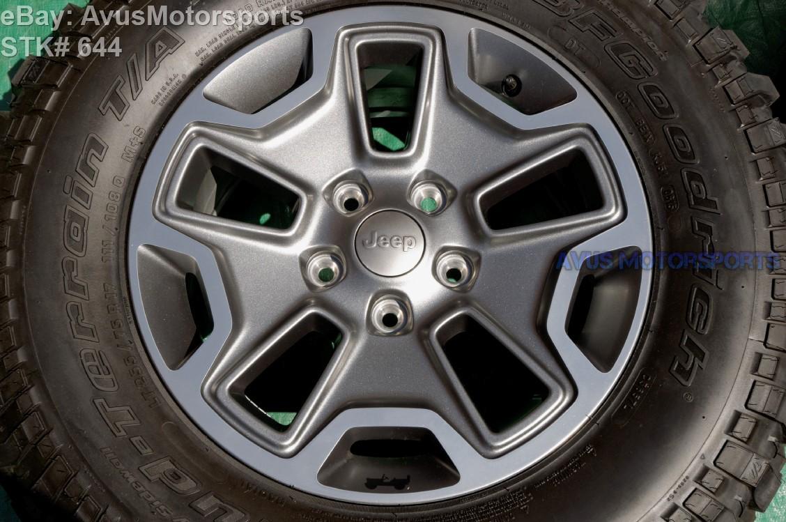 jeep wrangler rubicon oem factory  wheels tires bfgoodrich ltr