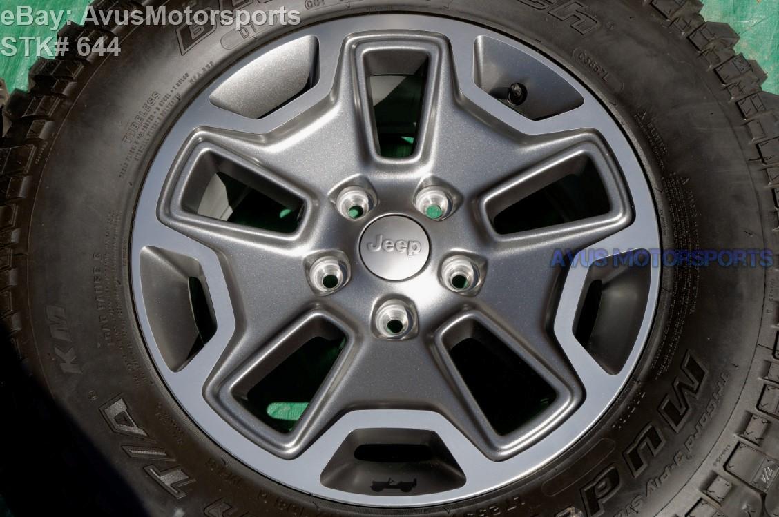 2015 Jeep Wrangler Rubicon Oem Factory 17 U0026quot  Wheels Tires