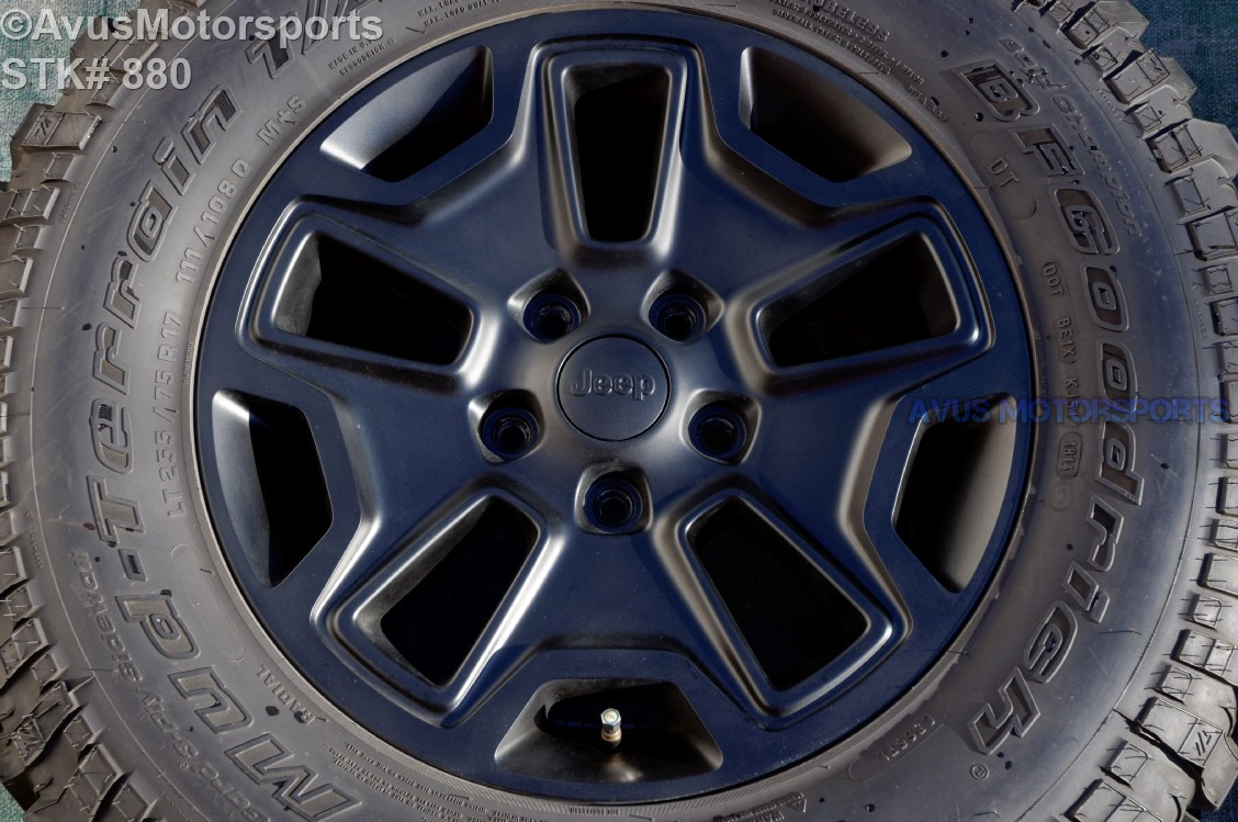 """Jeep Wrangler Tires And Rims >> 2014 Jeep Wrangler Rubicon OEM Factory 17"""" Wheels Tires ..."""