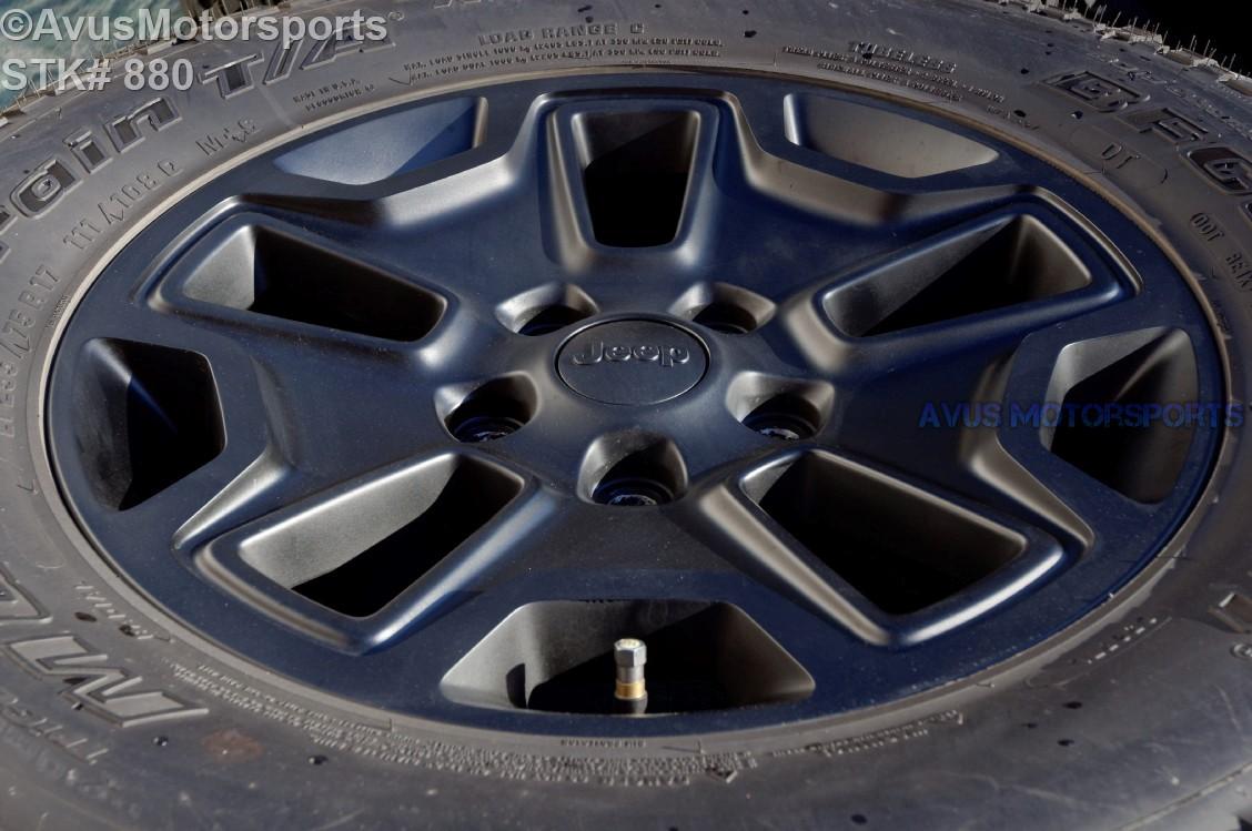 2014 Jeep Wrangler Rubicon Oem Factory 17 U0026quot  Wheels Tires