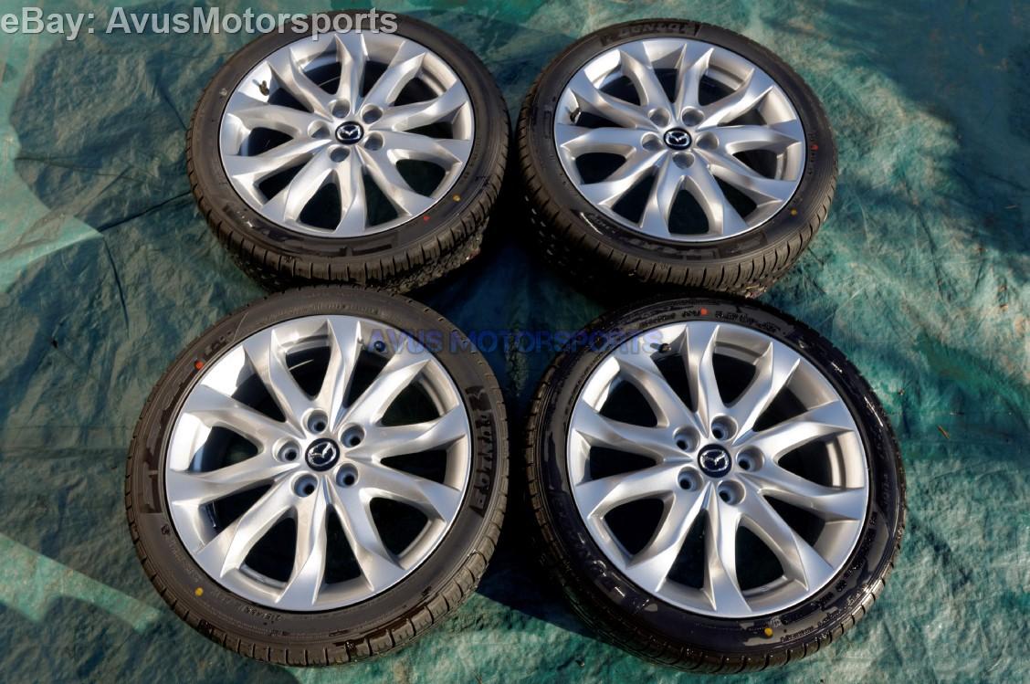 "2014 Mazda 3 OEM 18"" Factory Wheels & Dunlop SP Sport ... 2014 Mazda 3 Wheels"