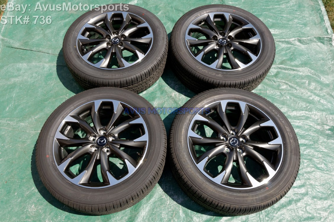 2016 mazda cx 5 oem 19 factory wheels toyo a23 p225 55r19 tires ebay. Black Bedroom Furniture Sets. Home Design Ideas
