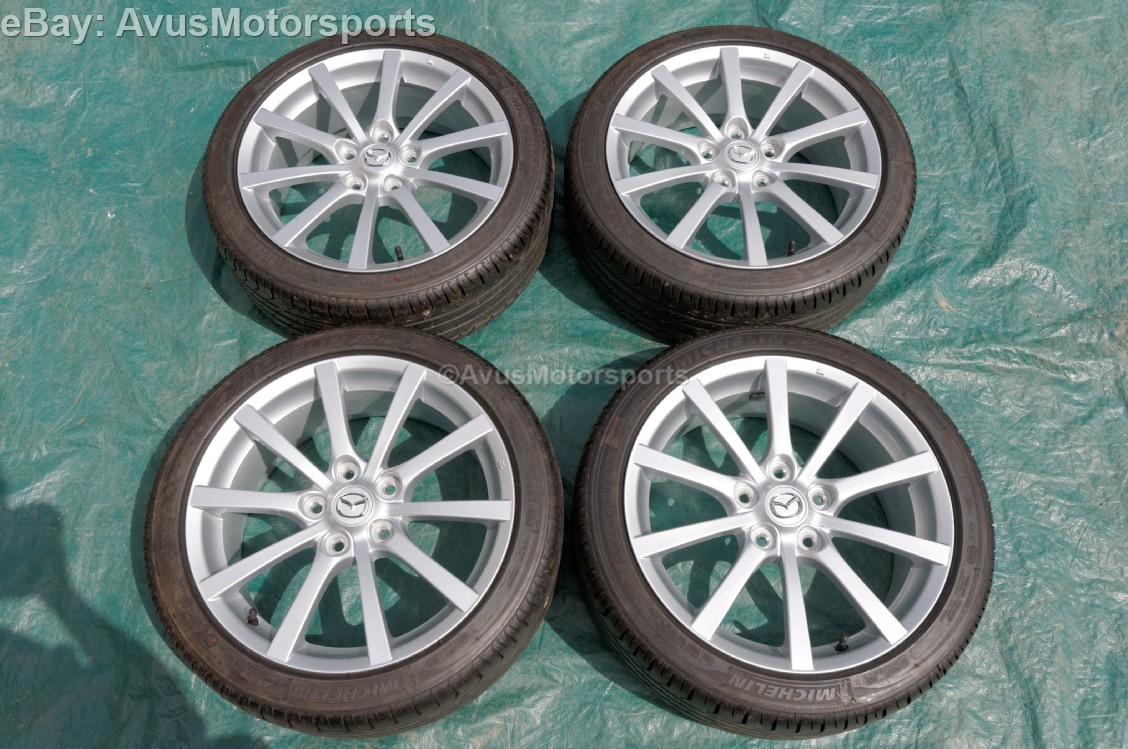 2006 mazda mx 5 miata oem 17 factory wheels michelin. Black Bedroom Furniture Sets. Home Design Ideas