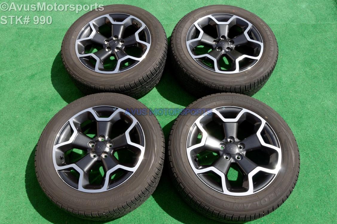 2015 subaru xv crosstrek oem 17 factory wheels yokohama. Black Bedroom Furniture Sets. Home Design Ideas