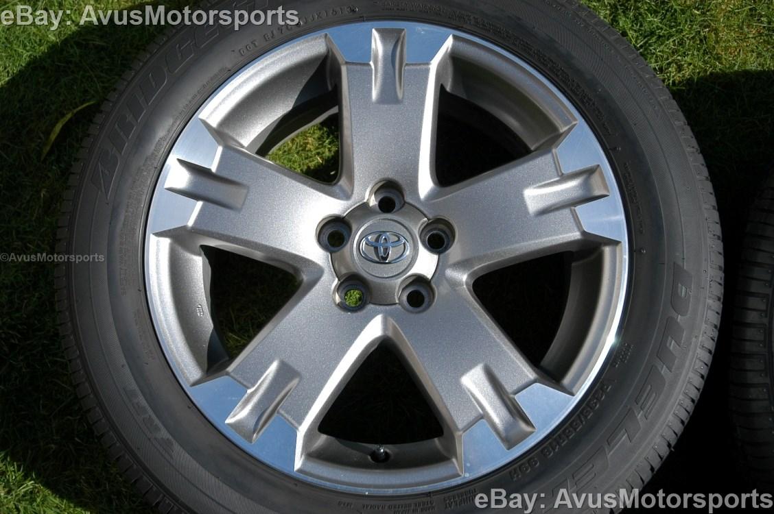 "95 Toyota Tacoma >> 2012 Toyota Rav4 OEM 18"" Wheels Runflat Tires Tacoma Camry Sienna Solara Avalon"