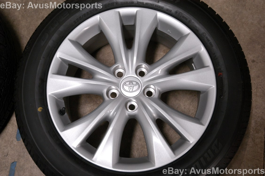 new 2014 toyota rav4 oem 18 factory wheels tires tacoma. Black Bedroom Furniture Sets. Home Design Ideas