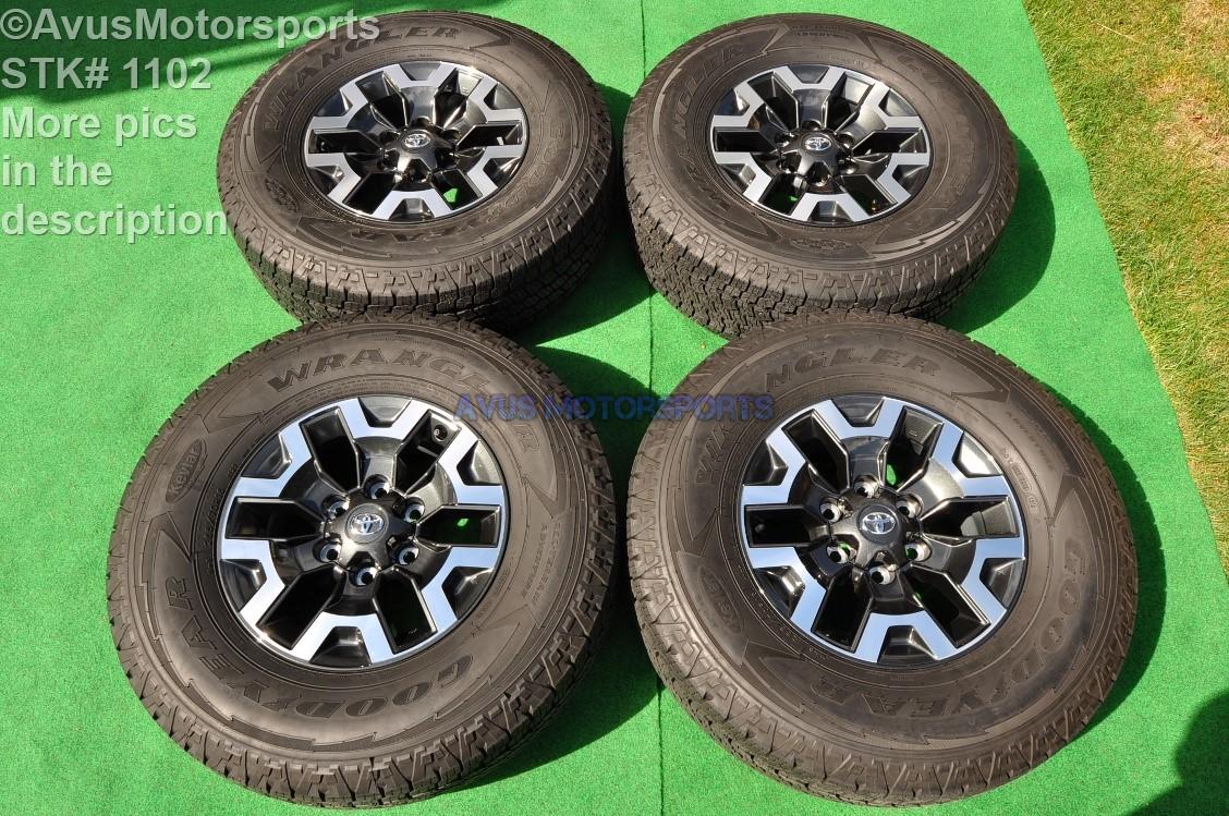 2016 toyota tacoma oem factory 16 trd offroad wheels tires 4runner tundra ebay. Black Bedroom Furniture Sets. Home Design Ideas