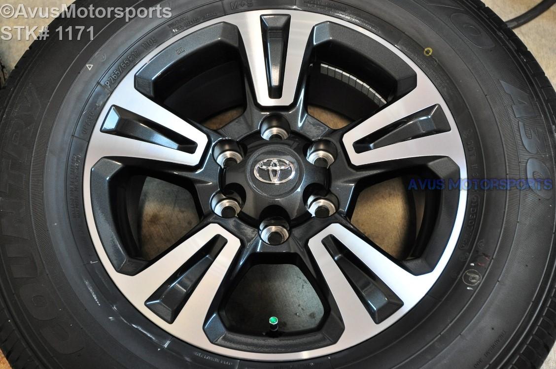 "2016 TOYOTA TACOMA OEM FACTORY 17"" TRD WHEELS Tires Land Cruiser 4runner Tundra | eBay"