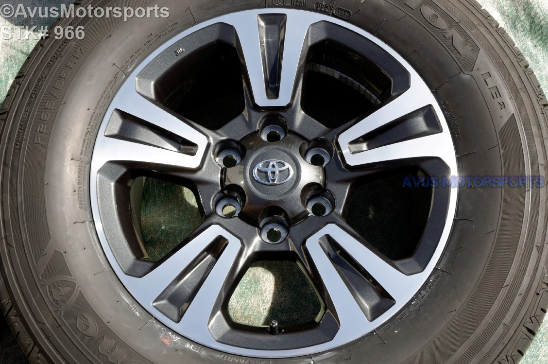 "2016 TOYOTA TACOMA OEM FACTORY 17"" TRD WHEELS Tires Land ..."