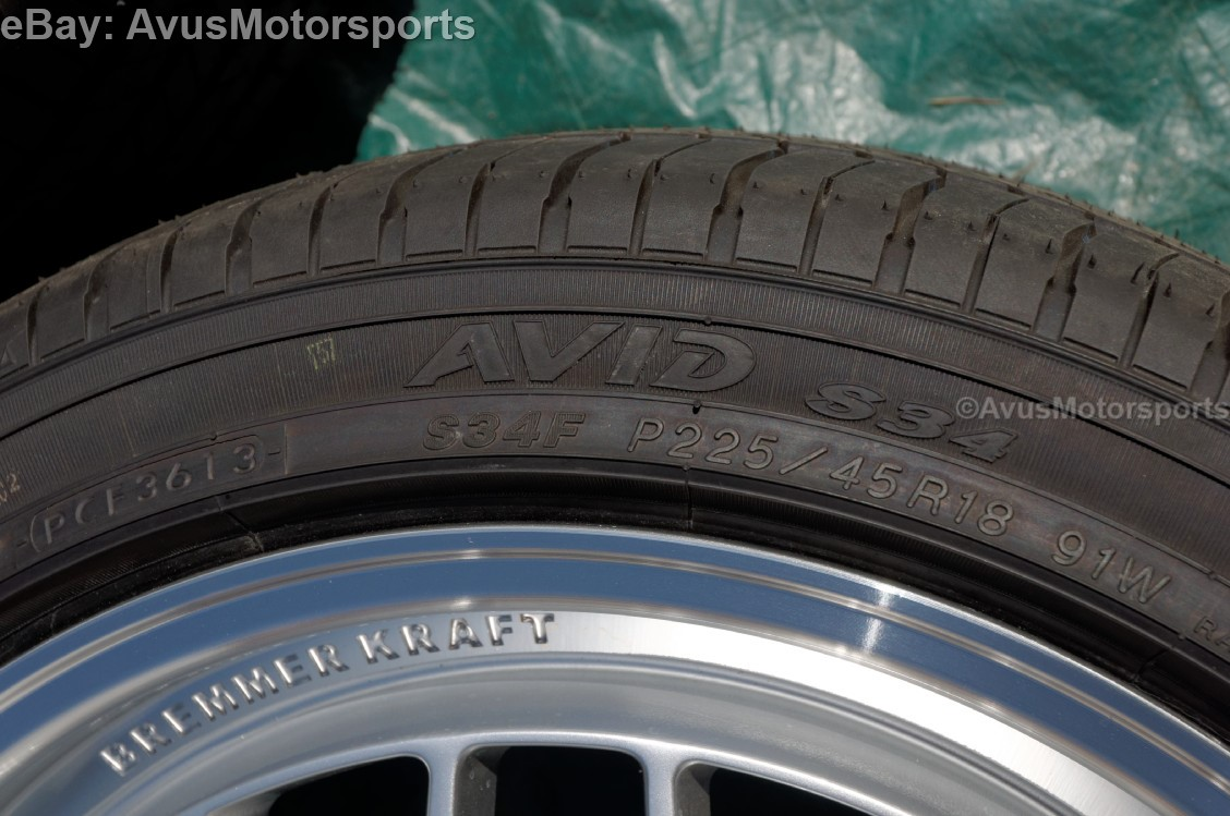 yokohama avid s34f p225 45r18 tires ebay. Black Bedroom Furniture Sets. Home Design Ideas