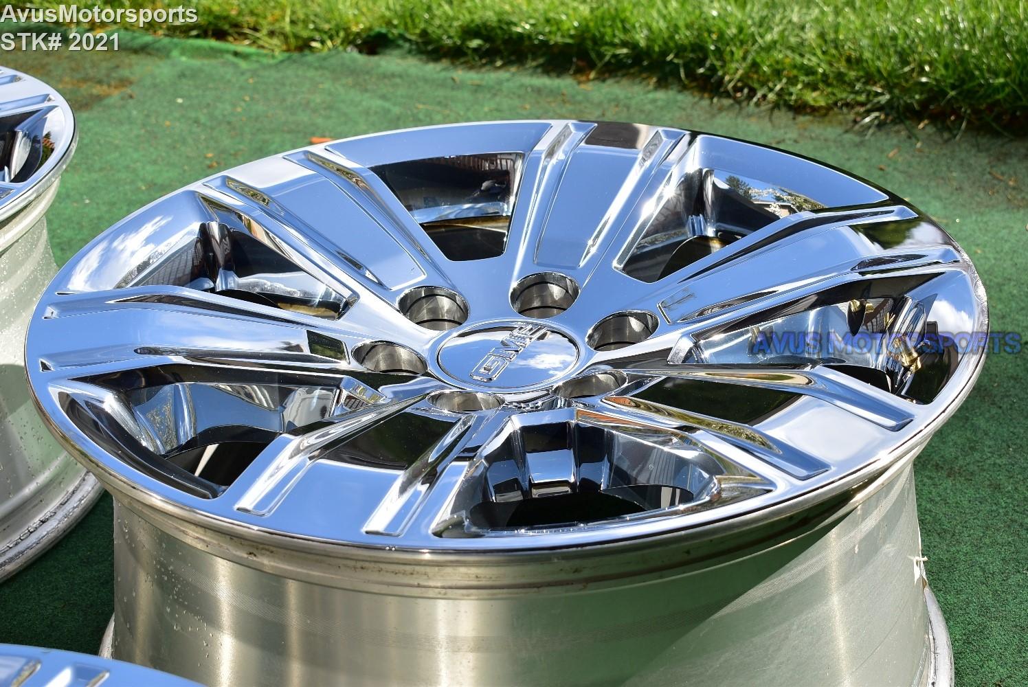 "Aftermarket Rims For Chevy Silverado 1500 >> 20"" GMC Sierra OEM FACTORY Chrome Clad WHEELS Yukon TAHOE ..."